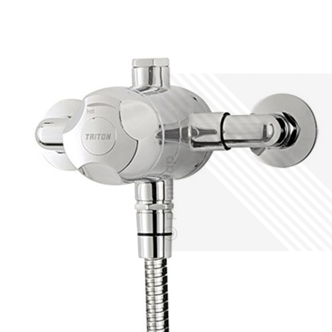 Triton Dove Sequential Exposed Thermostatic Shower Mixer Valve With Handset Riser Rail Soap Dish